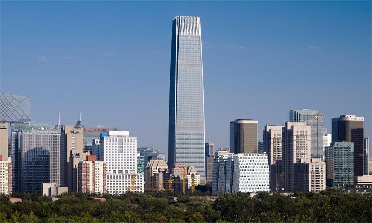 Das dritte Tower of China World Trade Center