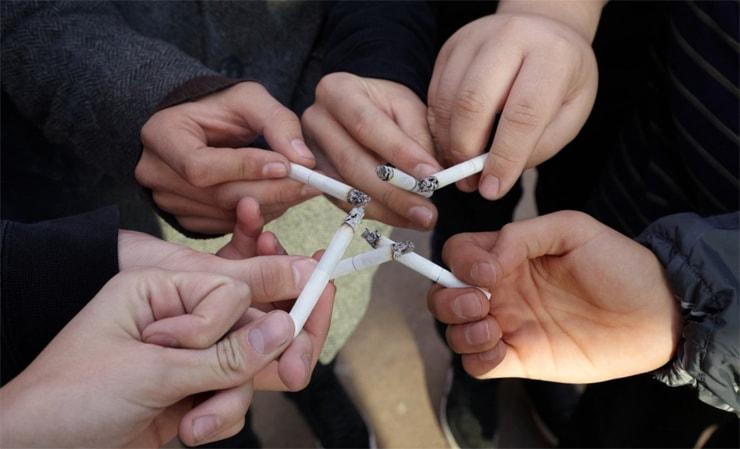 Rauchen für die Firma