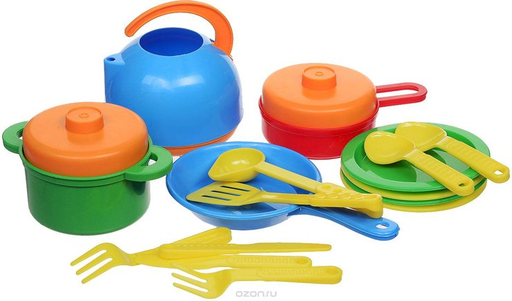 Spielzeuggeschirr für Kinder