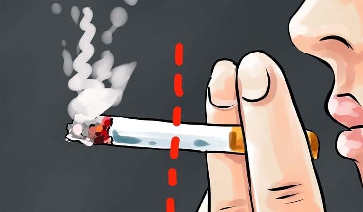 Zigarettenhälfte