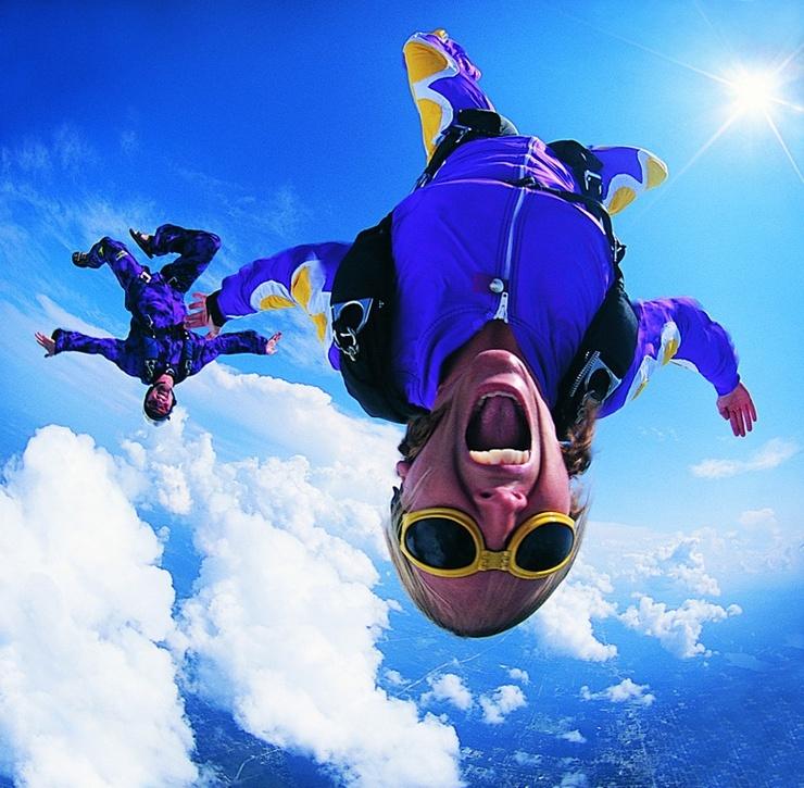Freestyle Fallschirmspringen