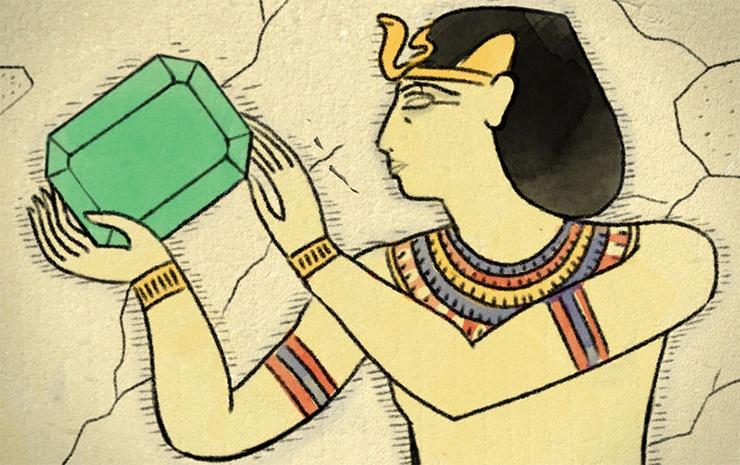 Die alten Ägypter und die Smaragde
